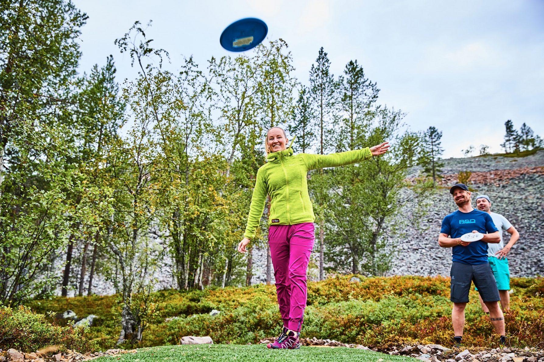 Testaa Luoston frisbeegolfrata - Pl Frisbeegolf Web Luosto 3