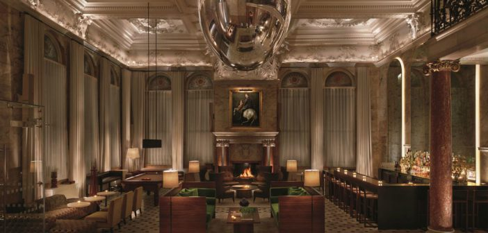 The Lobby Bar in EDITION Hotel with its famous orb