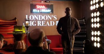 Library London book reading by author Paterson Joseph