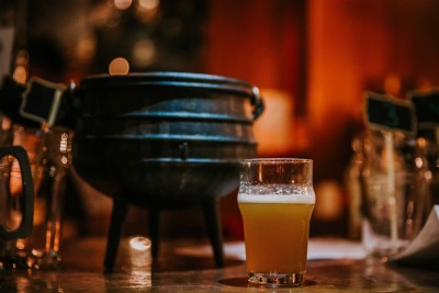 The Cauldron brewing beer