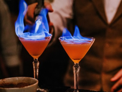 The Cauldron flaming cocktails