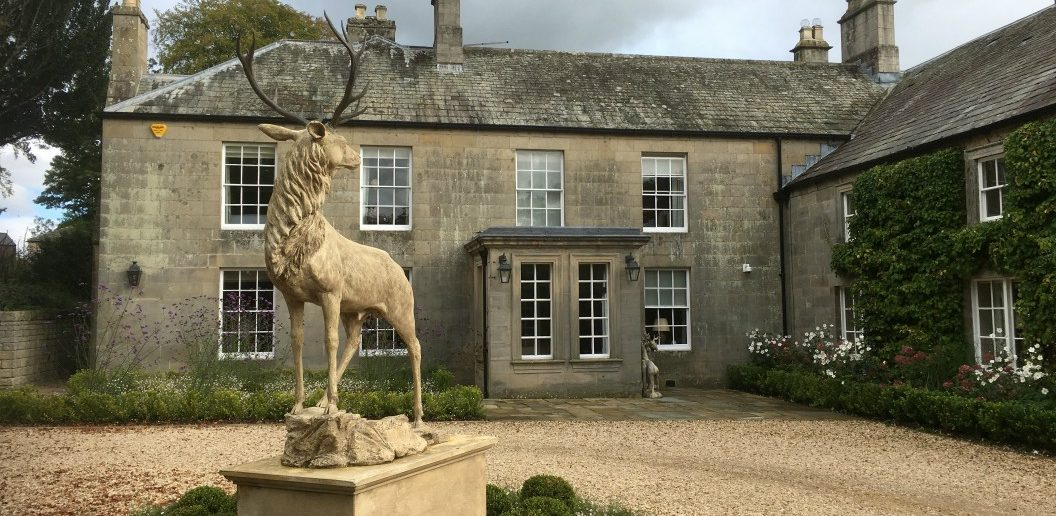 Walwick Hall and its stag