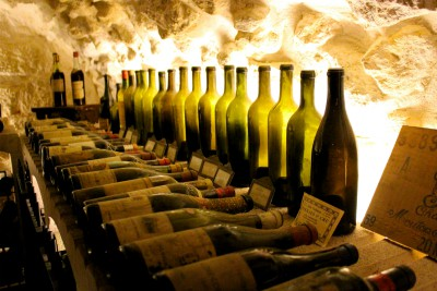 Christmas in Paris wine cellar