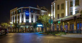 River Inn Memphis exterior at night