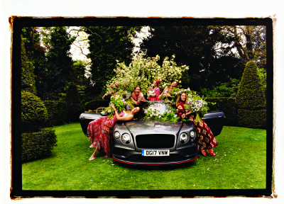 Spirit of Bentley book in the garden