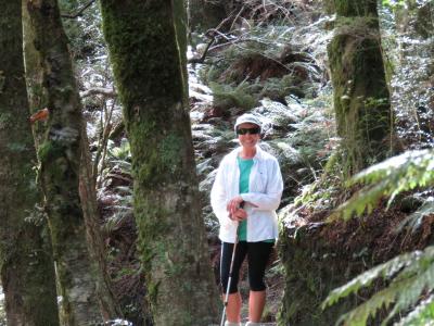 Rob Roy Glacier Justine Tyerman takes a pause on the climb up