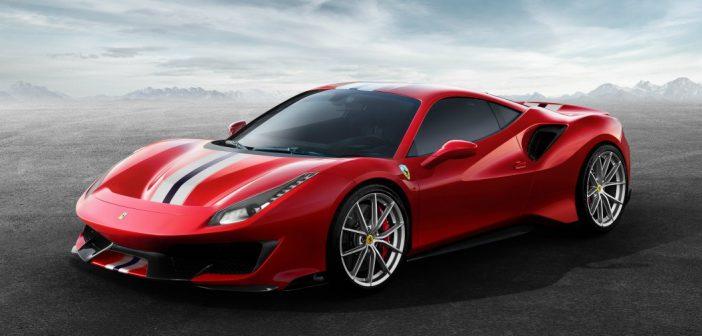 Ferrari 488 Pista in red