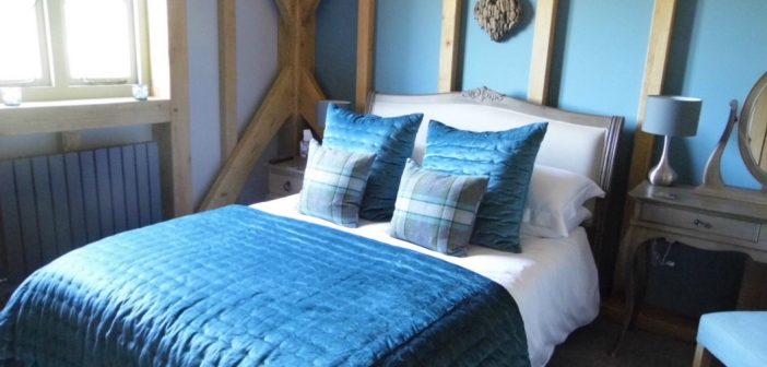 Blue Vale in Dorset bedroom