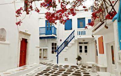 Traditional streets in Mykonos