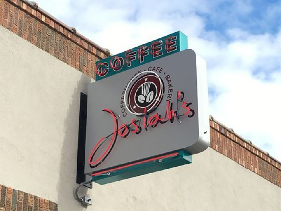 The Top Things To Do in Sioux Falls includes Josiah's cafe sign