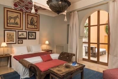 Jnane Tamsna Boutique Hotel elegant master bedroom