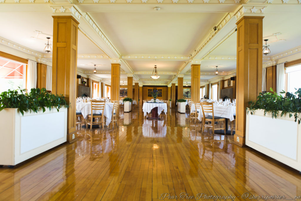 The dining room at Keltic Lodge Nova Scotia