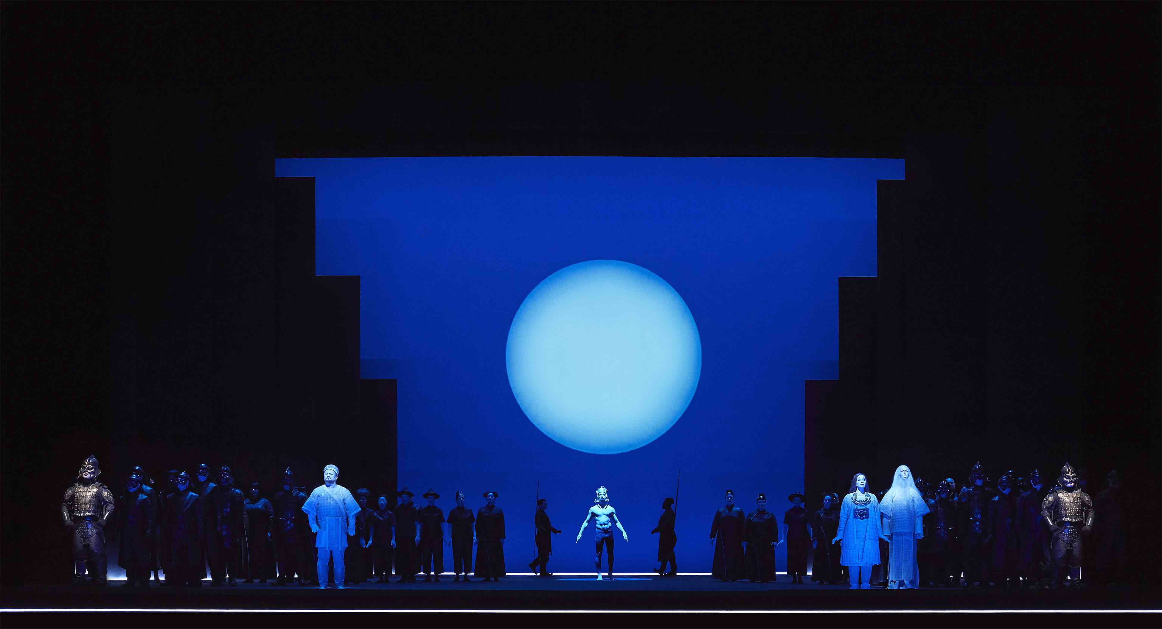 COC's production of Turandot on stage in Toronto showing night scene