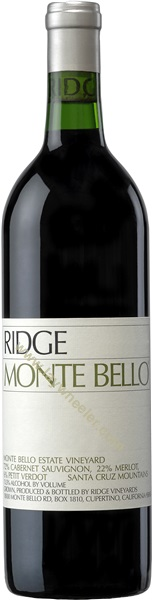 2012 Monte Bello, Ridge Vineyards, Santa Cruz Mountains