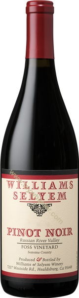 2015 Foss Vineyard Pinot Noir, Williams Selyem, Russian River Valley