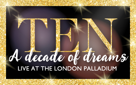 Buy theatre tickets to watch the variety show live, Ten a Decade of Dreams, at The London Palladium.