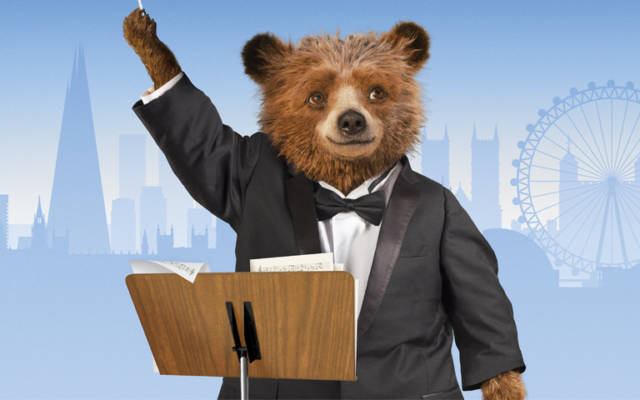 Book London theatre tickets to watch Paddington the Bear movie with the symphony orchestra playing the soundtrack.