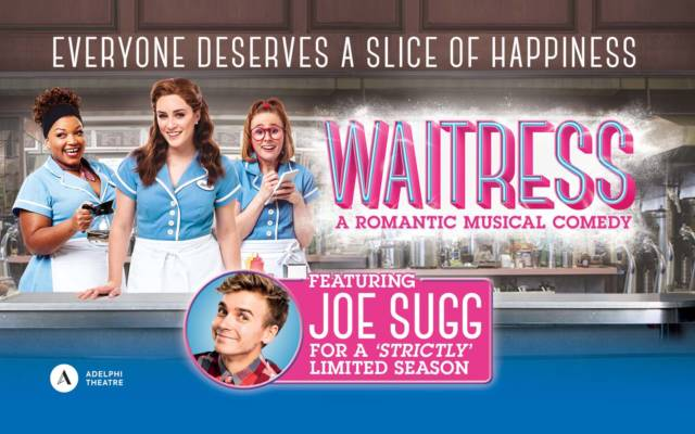 Waitress London artwork with Joe Sugg