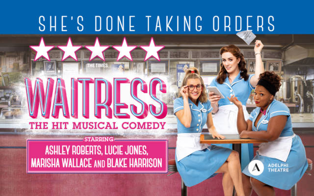 Ashley Roberts, Lucie Jones and Marisha Wallace in Waitress musical