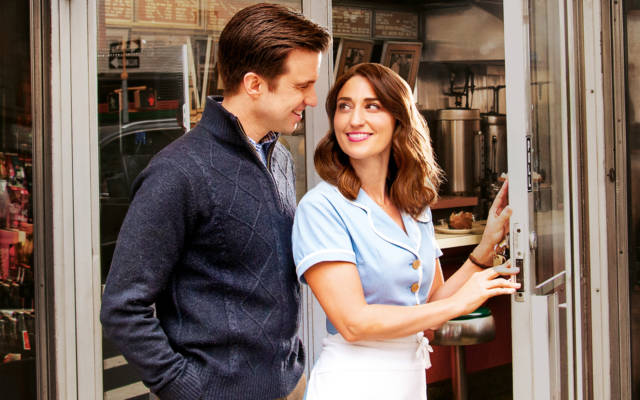 Sara Bareilles and Gavin Creel in Waitress