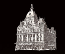 1897 drawing of Her Majesty's theatre located in London
