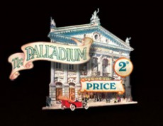 1910 The London Palladium poster. Located in London's West End.