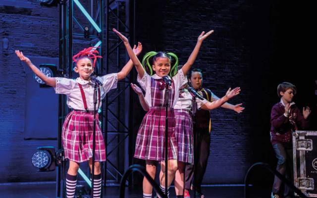 School of Rock musical London at the Gillian Lynne Theatre October 2019
