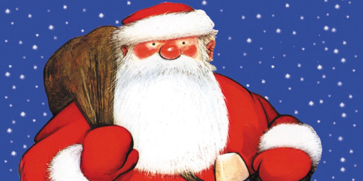 Pins Needles Father Christmas on Santa Claus Cartoon