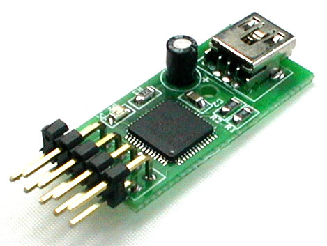 A circuit board with ports