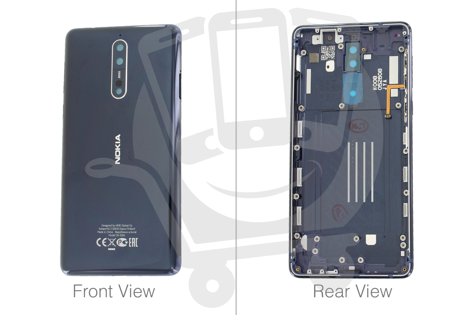 the best attitude 96ffd 1694a Details about Genuine Nokia 8, Nokia 8 Dual Sim Blue Polished Rear /  Battery Cover - 20NB1LW00
