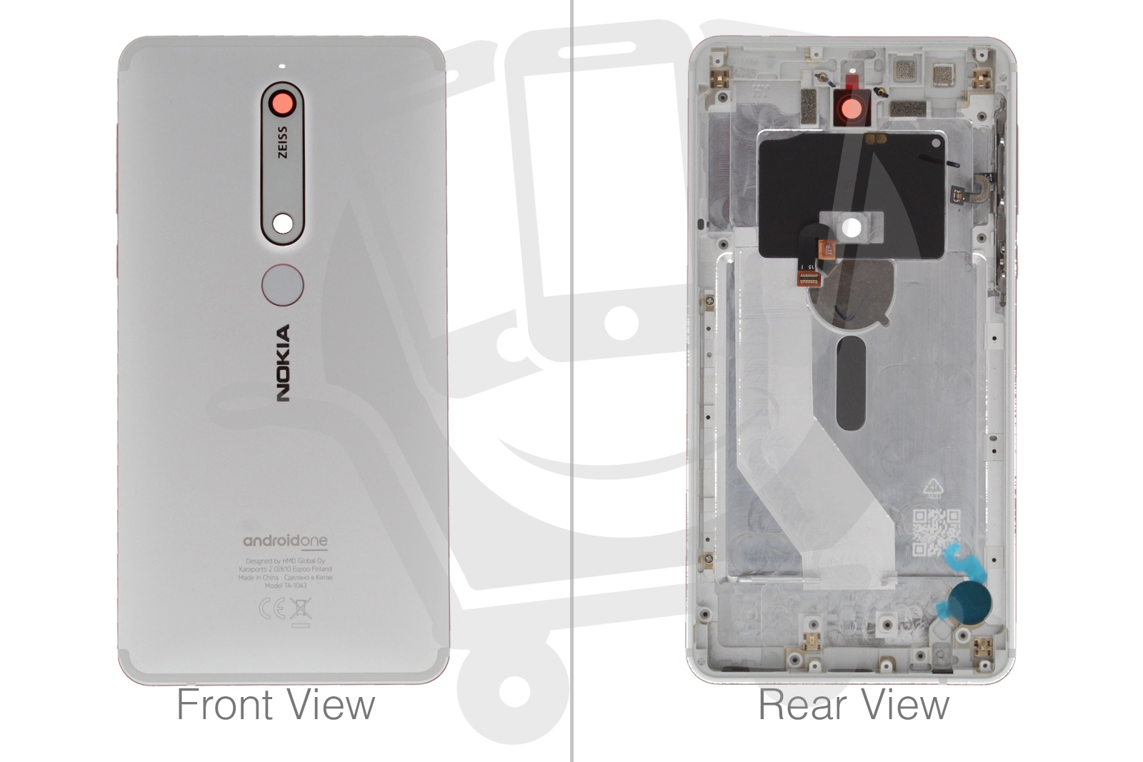 Details about Genuine Nokia 6 1 2018 Dual Sim White Iron Rear / Battery  Cover with NFC - 20PL2