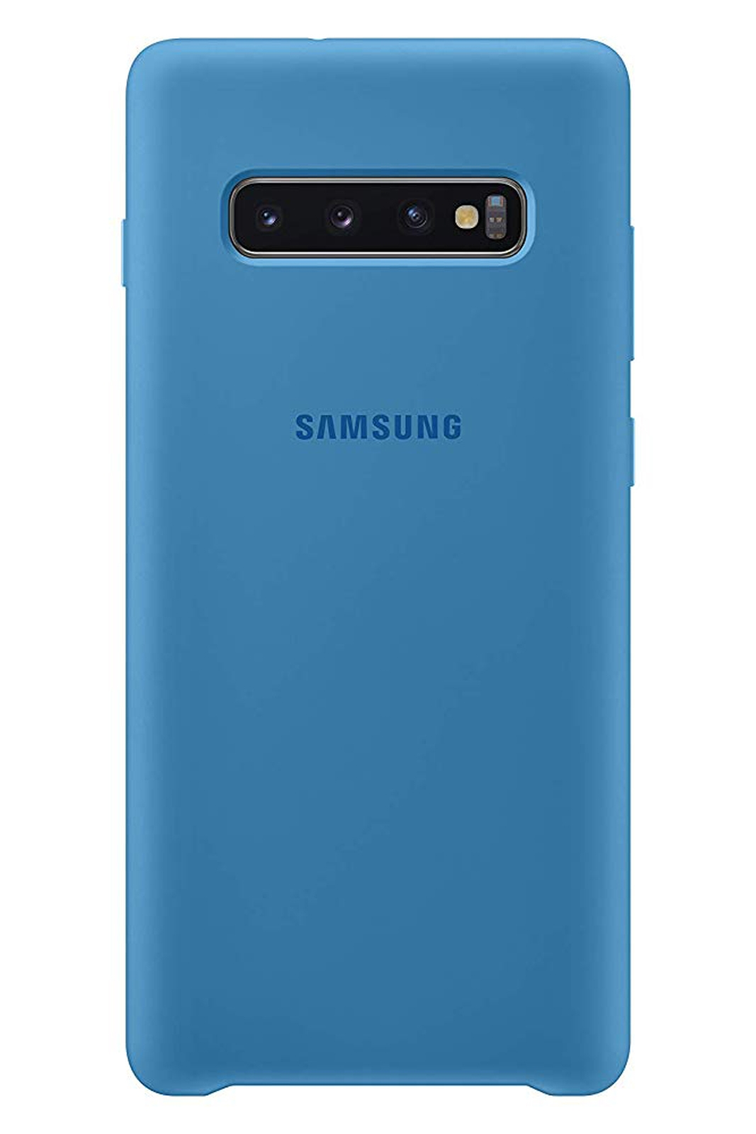 811408589ab Official Samsung Galaxy S10 Plus Blue Silicone Cover / Case - EF ...