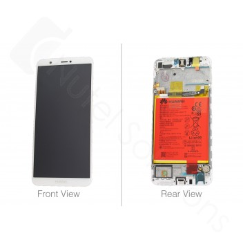 Genuine Huawei P Smart White LCD Screen & Digitizer With Battery - 02351SVE