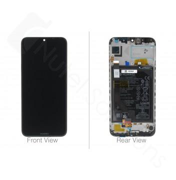 Genuine Huawei Y7 2019 Black LCD Screen & Digitizer with Battery - 02352KCV