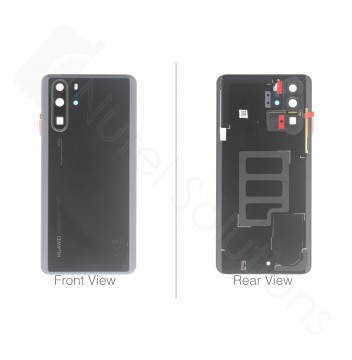 Official Huawei P30 Pro Black Battery Cover with Adhesive - 02352PBU