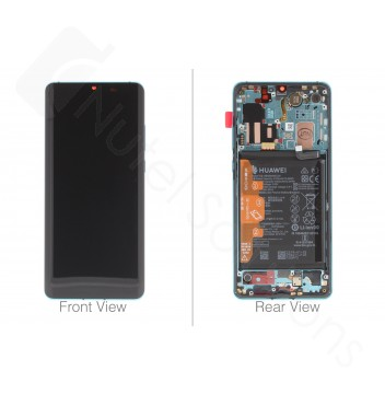 Official Huawei P30 Pro Aurora Blue LCD Screen & Digitizer with Battery - 02352PGE