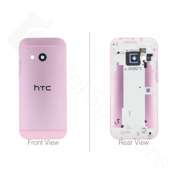 Genuine HTC One Mini 2 (M8 2014) Pink Laser Etching Rear / Battery Cover - 83H40012-08