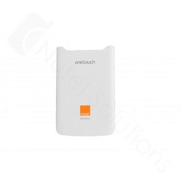Genuine Alcatel One Touch OT-991 Denver White Battery Cover with Logo - BCJ32ALB15C0