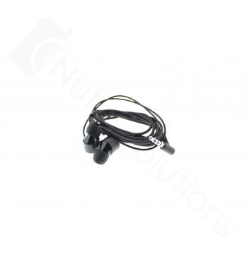 Genuine LG G7 ThinQ G710 Black Quadbeat3 Stereo Headset - EAB63728244 / EAB63728245