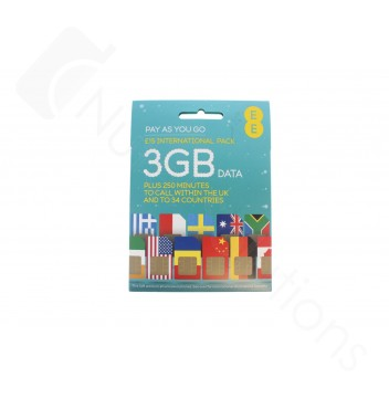 EE £15 International Pre Pay SIM Card - 25% 6 Months Revenue Share