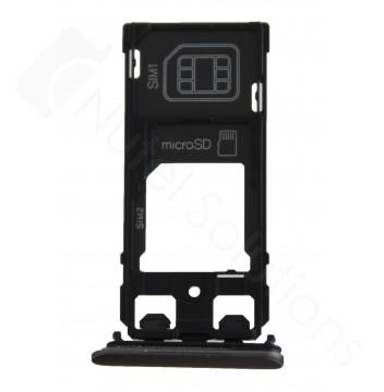 Genuine Sony Xperia X F5122 Dual Black Sim Tray - 1302-4834