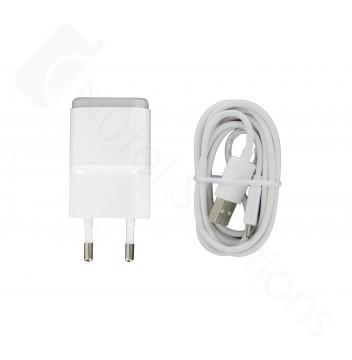 Genuine LG MCS-01ER White EU USB Mains Charging Adapter & Data Lead