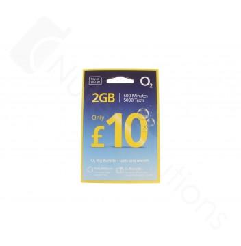 O2 £10 Big Bundle Triple Pre Pay SIM Card - 24.5% 5 Months Revenue Share