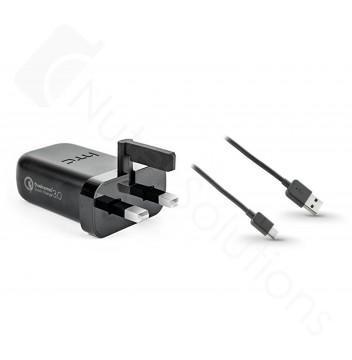 Official HTC TC P5000 UK 3.0 Quick Rapid Mains Charger - M10, U Play, U Ultra, U11