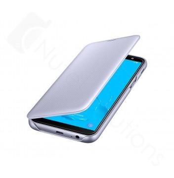 Official Samsung Galaxy J6 2018, SM-J600 Violet Flip Wallet Cover - EF-WJ600CVEGWW