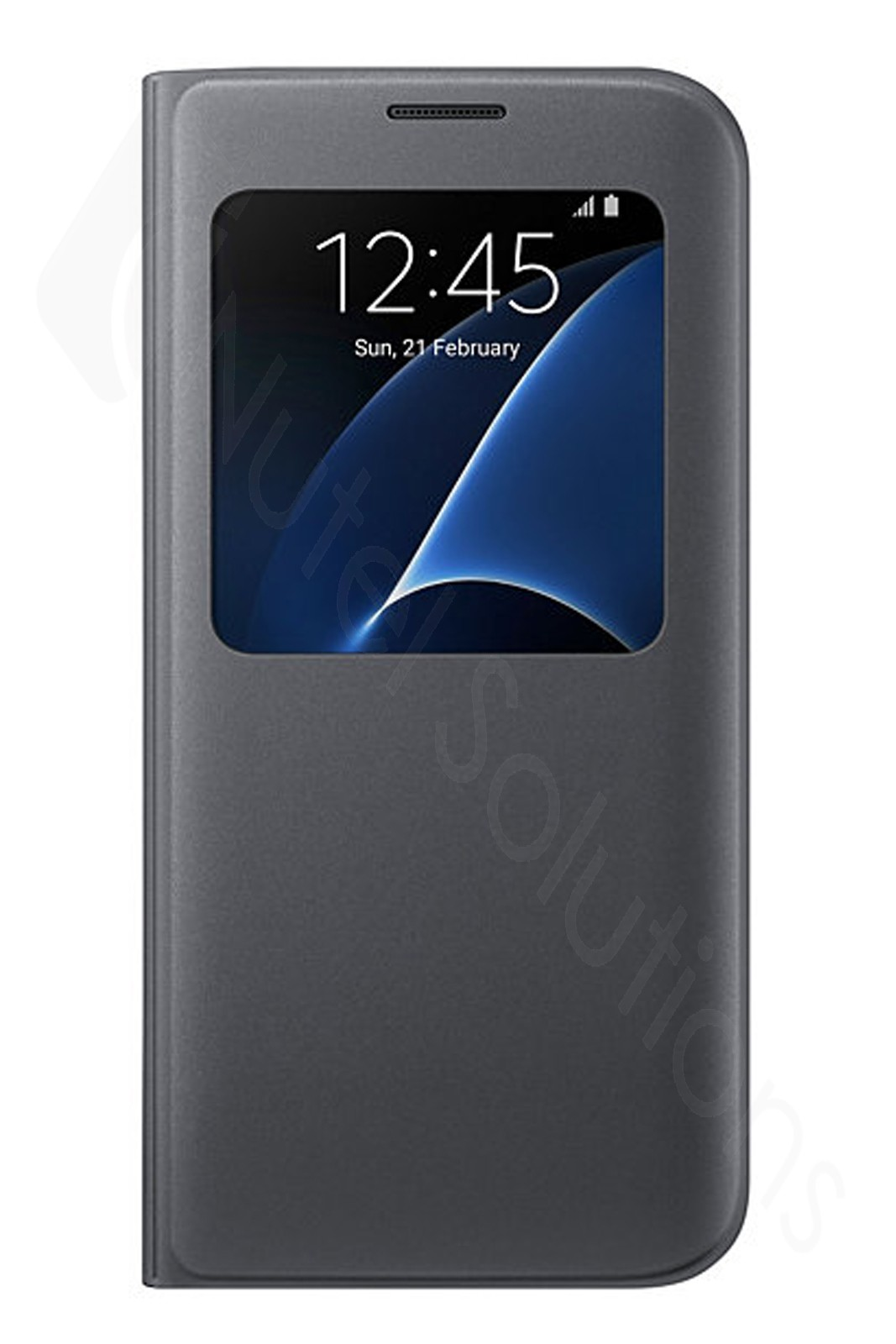official samsung galaxy s7 edge black s view cover case ef cg935pbegww. Black Bedroom Furniture Sets. Home Design Ideas