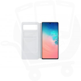 Official Samsung Galaxy S10 Lite SM-G770 White S View Wallet / Flip Case - EF-EG770PWEGEU