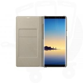Official Samsung Galaxy Note 8 Deep Gold LED Flip Wallet / Case - EF-NN950PBEGWW