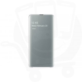 Official Samsung Galaxy S10 5G White Clear View Cover  / Case - EF-ZG977CWEGWW