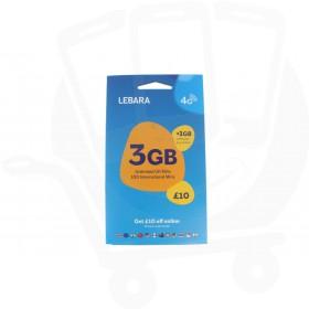 Lebara Triple Pre Pay SIM Card